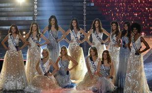Les candidates au titre de Miss France 2016, le 19 décembre 2015 à Lille