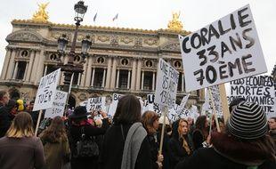 Plusieurs milliers de personnes ont manifestes contre aux violences sexistes, sexuelles et conjugales. France le 23 novembre 2019.
