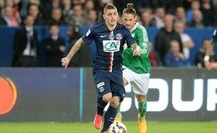 Marco Verratti lors du match entre le PSG et Saint-Etienne le 8 avril 2015.