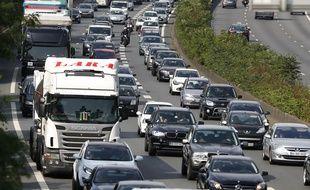 Un embouteillage en Ile-de-France (illustration).