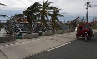 Illustration: Les dégâts aux Philippines après le passage du typhon Haima , le 20 octobre 2016.