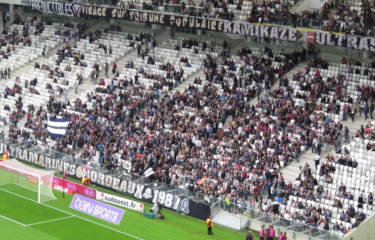 Le virage des supporteurs des Girondins dans le Nouveau stade de Bordeaux, le 23 mai 2015. – M. Nouaux / 20 Minutes