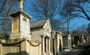 Illustration du cimetière du Père Lachaise à Paris.