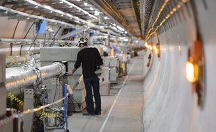 A l'intérieur du Grand collisionneur de hadrons, le 16 février 2016.