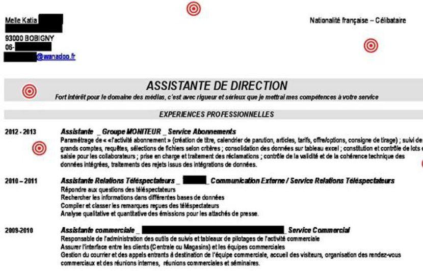 Plus adapté Le CV de Katia, assistante de direction, décrypté par Gilles Payet IU-68