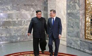 Le leader nord-coréen Kim Jong-un et le président sud-coréen Moon Jae-in