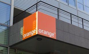 Le nouveau siege de la société de télécommunications Orange, le 14 janvier 2013.