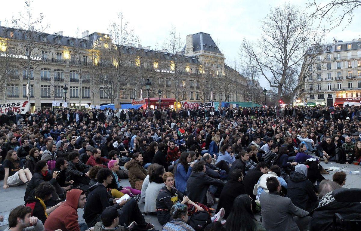 Mouvement «Nuit debout» place de la République.  – Bertrand Combaldieu/AP/SIPA