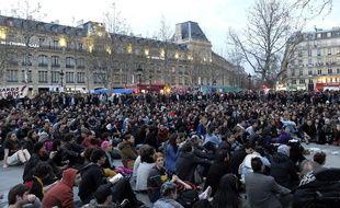 Mouvement «Nuit debout» place de la République.