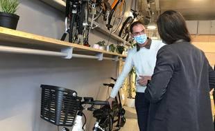 La nouvelle maison du vélo vient d'ouvrir ses portes près de la gare de Rennes.