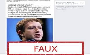 Non, taper le mot «gratula» ne signifie pas que votre compte Facebook est sécurisé.