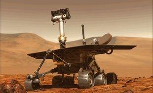 L'astromobile Opportunity (image générée par ordinateur)