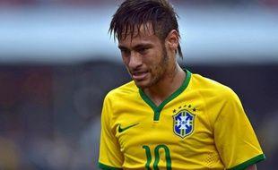 L'attaquant de l'équipe du Brésil Neymar, le 6 juin 2014 à Sao Paulo contre la Serbie.