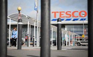 Un supermarché Tesco à Londres, le 29 août 2014