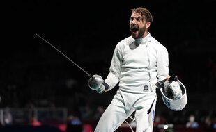 Romain Cannone, nouveau champion olympique d'épée.