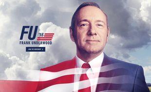 Frank Underwood (Kevin Spacey) sur la page d'accueil du site créé par Netflix pour la saison 4 de «House of Cards».