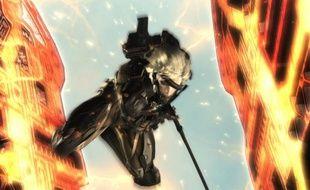 """Raiden, le héros de """"Metal Gear Rising: Revengeance""""."""