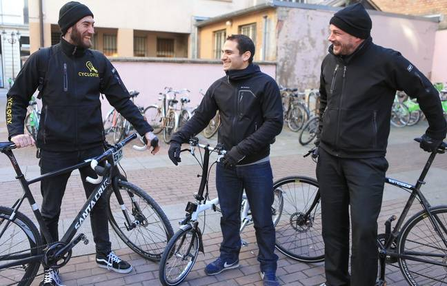 Alexis Zerbib, au centre, entouré de Xavier de Gevigney, autre cofondateur à droite, et Yoann Andrieux, manager à gauche.