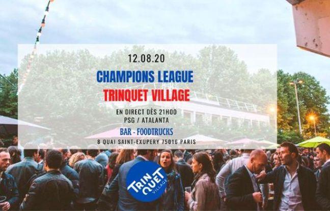 Match diffusé en plein air à la Guinguette du Sud-Ouest le Trinquet