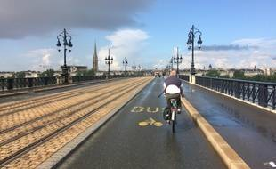 Le pont de Pierre à Bordeaux, le 5 juillet 2018.