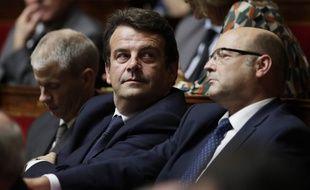 Thierry Solère sur les bancs de l'Assemblée nationale le 25 octobre 2017.