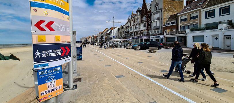 Malo-les-Bains, le 16 mai 2020. Reportage à Malo pour le premier week-end de réouverture des plages du Nord après le déconfinement.