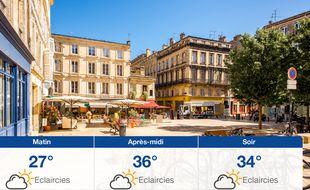 Météo Bordeaux: Prévisions du lundi 22 juillet 2019