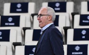 Frank McCourt, photographié avant un match au Vélodrome en mars 2019 (archives).