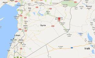 La région de Deir Ezzor, une ville de l'est de la Syrie
