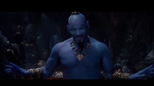 Will Smith devient un génie bleu dans la nouvelle bande-annonce d'«Aladdin»