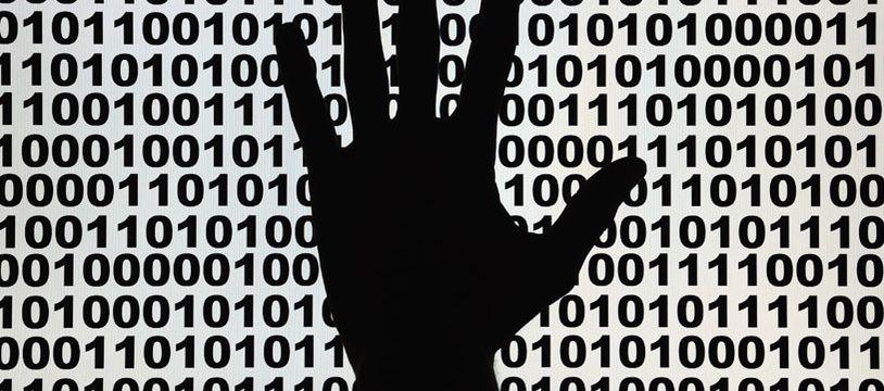 Illustration: sécurité informatique, piratage.