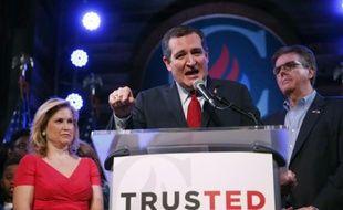 Le candidat aux primaires républicaines Ted Cruz, lors d'un meeting à Stafford, au Texas, le 1er mars 2016