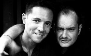 Martial Tricoche et Cédric Soubiron du groupe de rap celtique Manau, dans les années 1990.