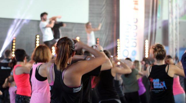 Session danse organisée le 27 novembre par l'entreprise de fitness L'Orange Bleue à Rennes. – C. Allain / APEI / 20 Minutes