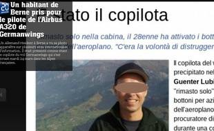 La photo d'un habitant de Berne a été publiée comme étant celle d'Andreas Lubitz, copilote de l'A320 de Germanwings.