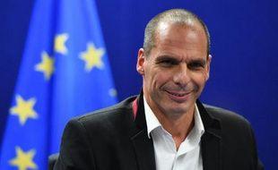 Le ministre grec des Finances Yanis Varoufakis à Bruxelles, le 20 février 2015