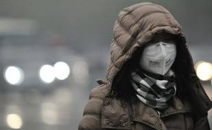 La pollution à Pékin, le 29 novembre 2015, illustration.