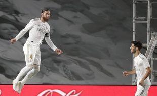 Sergio Ramos a inscrit le seul but du match lors de la victoire du Real Madrid contre Getafe, le 2 juillet 2020.