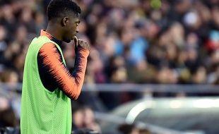 Ousmane Dembélé n'est pas entré en jeu lors du choc Barcelone-Atlético Madrid, le 4 mars 2018 au Camp Nou.