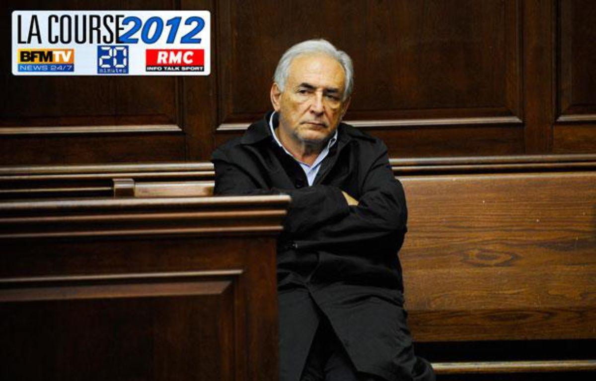 Dominique Strauss-Kahn, au tribunal de Manhattan, le 16 mai 2011. – AFP / Photomontage 20minutes.fr