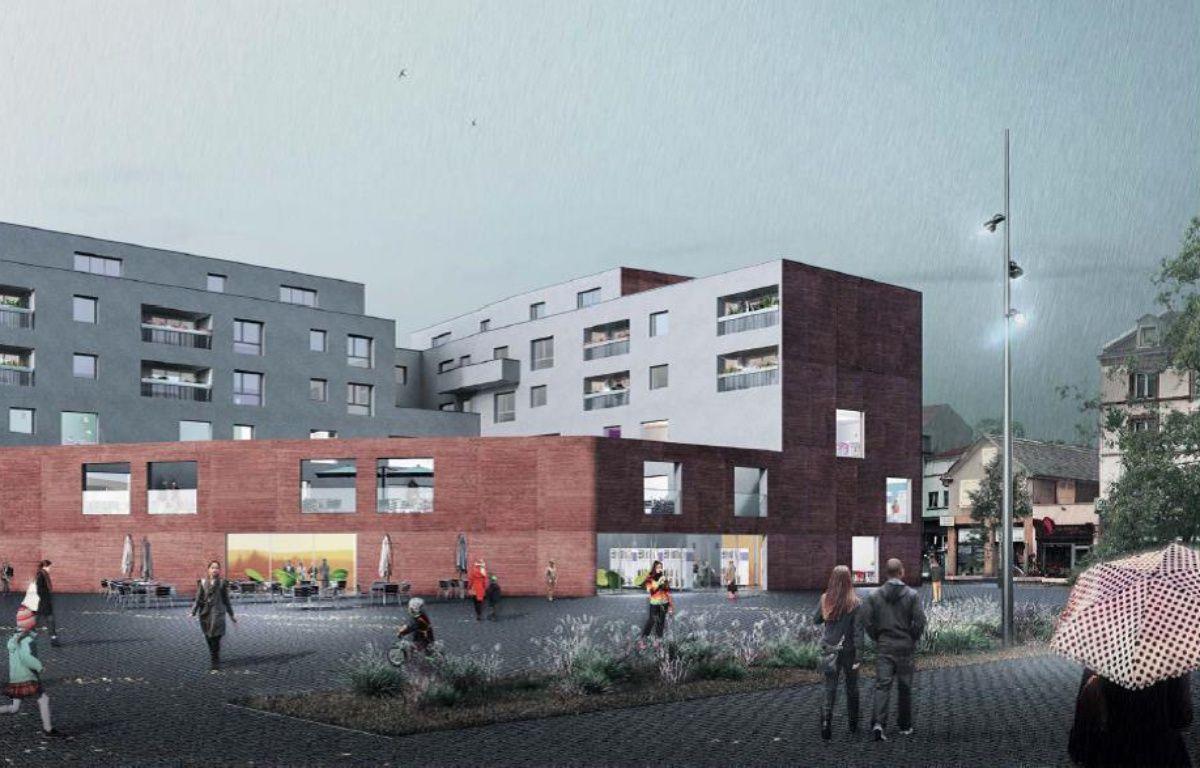 La médiathèque nord de Strasbourg devrait ouvrir en 2019. – O ARCHITECTURE