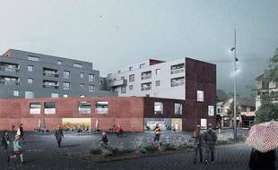 La médiathèque nord de Strasbourg devrait ouvrir en 2019.