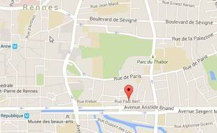 L'appartement était situé rue Paul-Bert, près du parc du Thabor.