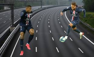 Mbappé et Neymar sur l'autoroute de la finale de Ligue des champions (lol).
