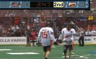 Capture d'écran d'un match de Lacrosse aux Etats-Unis, entre Buffalo et Philadelphie.