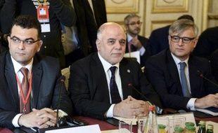 Le Premier ministre irakien, Haider al-Abadi, le 2 juin 2015 à Paris, à une réunion de la coalition anti-EI