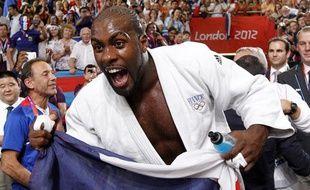 Le judoka Teddy Riner, sacré champion olympique chez les plus de 100kg, le 3 août 2012 lors des Jeux de Londres.
