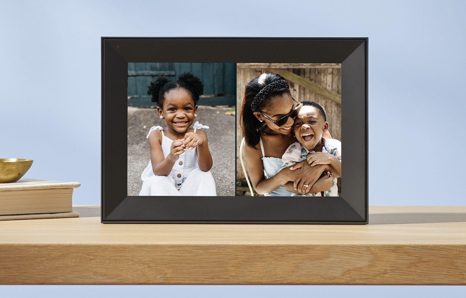 Deux photos en mode Portrait peuvent être affichées simultanément.