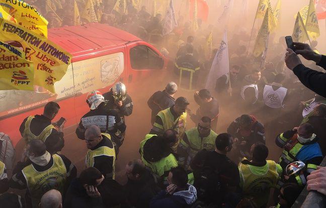 4.000 pompiers professionnels sont venus de toute la France exprimer leur «ras-le-bol»