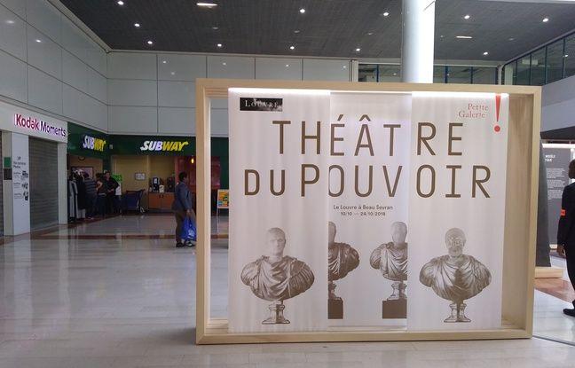 L'espace d'exposition de 20m² en plein centre commercial